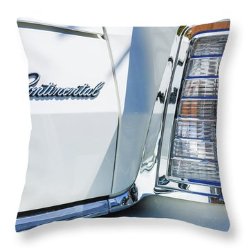 Lincoln Continental Mark Iv Head Light -0149c Throw Pillow