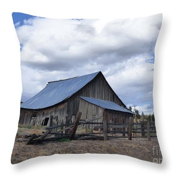 Lincoln County Barn Throw Pillow