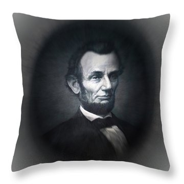 Lincoln Forever In Our Minds Eye Throw Pillow