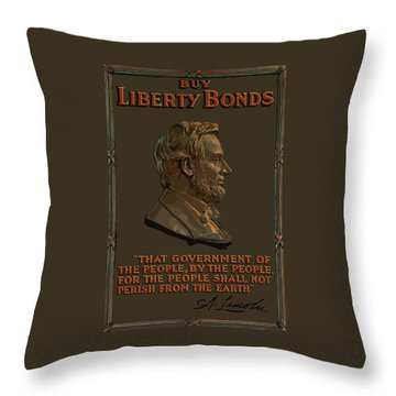 Lincoln Gettysburg Address Quote Throw Pillow