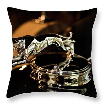 Lincoln Greyhound Hood Ornament Throw Pillow