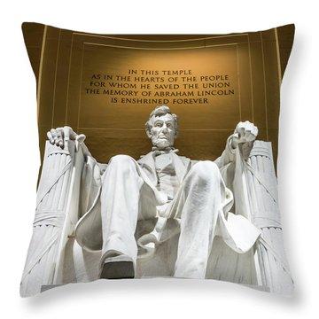 Lincoln Memorial 2 Throw Pillow
