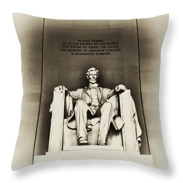 Lincoln Memorial Throw Pillow by Bill Cannon
