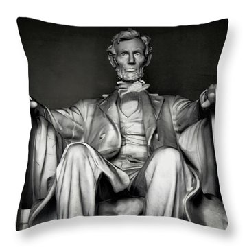 Lincoln Memorial Throw Pillow by Daniel Hagerman