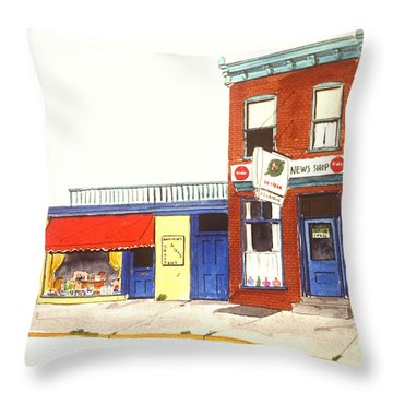 Lincoln News Throw Pillow