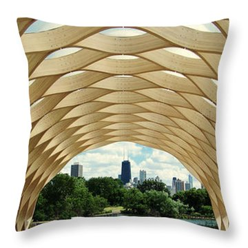 Lincoln Park Zoo Nature Boardwalk Panorama Throw Pillow