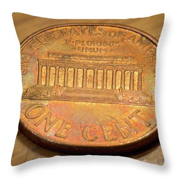 Lincoln Penny Throw Pillow