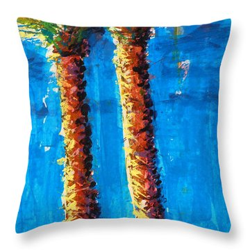 Lincoln Rd Date Palms Throw Pillow