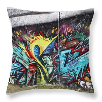 Throw Pillow featuring the painting Lincoln Street by Sheila Mcdonald