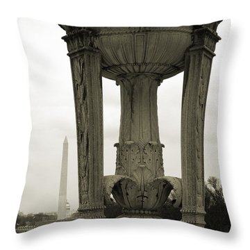 Throw Pillow featuring the photograph Lincoln To Washington by Angela DeFrias