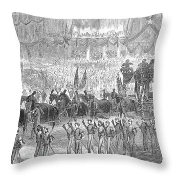 Lincolns Funeral, 1865 Throw Pillow by Granger