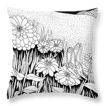Linda's Garden Throw Pillow