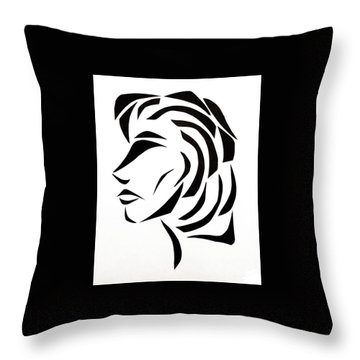 Throw Pillow featuring the mixed media Lindsay by Delin Colon