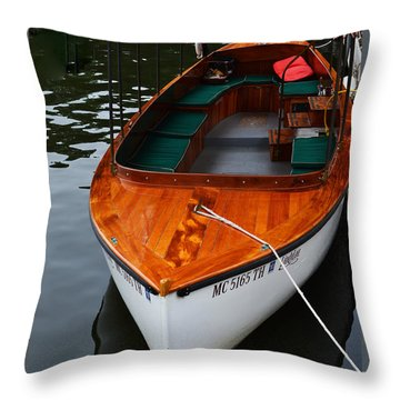 Lindy Lou Wood Boat Throw Pillow