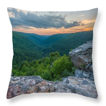 Canaan Valley West Virgina Lindy Point Sunset Throw Pillow