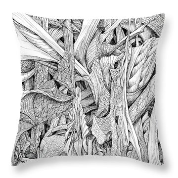 Line 2 Throw Pillow by Charles Cater