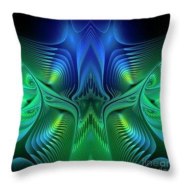 Throw Pillow featuring the digital art Line Art by Jutta Maria Pusl