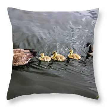 Line Astern Signed Throw Pillow