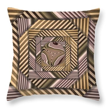 Throw Pillow featuring the digital art Line Geometry by Ron Bissett