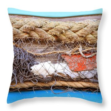 Line Of Debris Throw Pillow