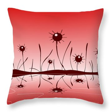 Line Of Defense Throw Pillow by Anastasiya Malakhova