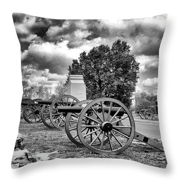 Throw Pillow featuring the photograph Line Of Fire by Paul W Faust - Impressions of Light