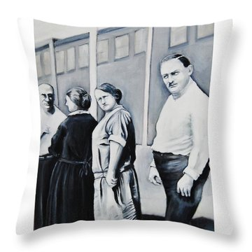 Line Of Peculiar People Throw Pillow by Jean Cormier