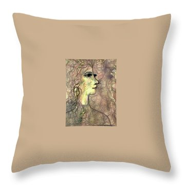 Line With Feeling Throw Pillow