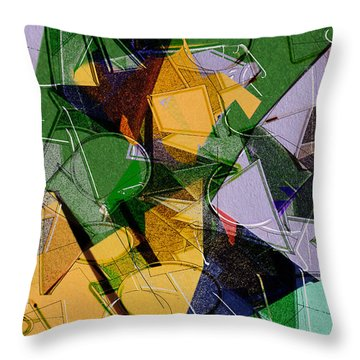 Linear Throw Pillow by Don Gradner