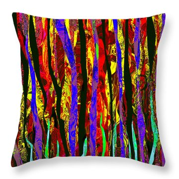 Linear Waves Throw Pillow