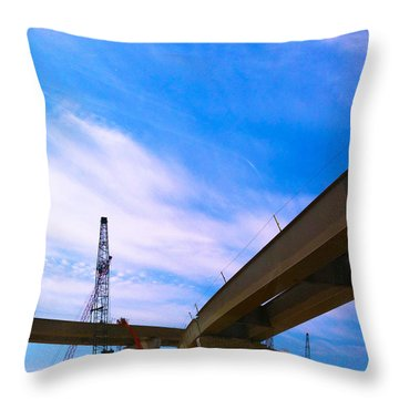 Throw Pillow featuring the photograph Lineing The Sky by Jamie Lynn