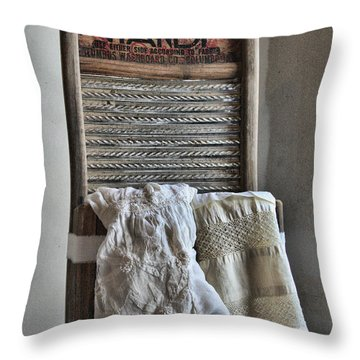 Wash Boards Throw Pillows
