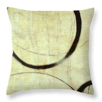 Linen Ensos Throw Pillow by Julie Niemela
