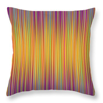 Throw Pillow featuring the digital art Lines 102 by Bruce Stanfield