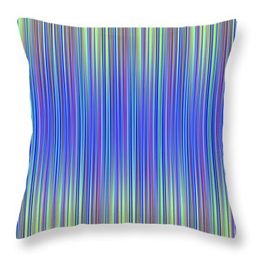 Throw Pillow featuring the digital art Lines 103 by Bruce Stanfield