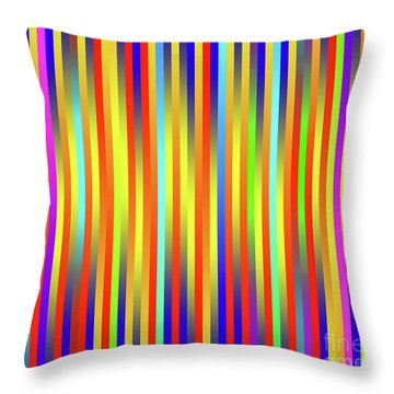 Throw Pillow featuring the digital art Lines 17 by Bruce Stanfield