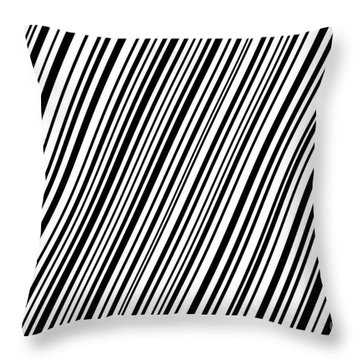 Throw Pillow featuring the digital art Lines 7 Diag by Bruce Stanfield