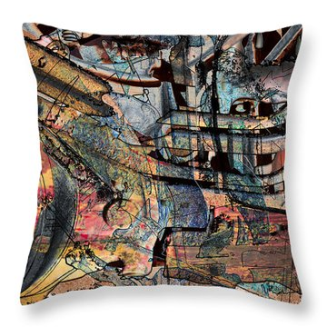 Lines And Colors Throw Pillow