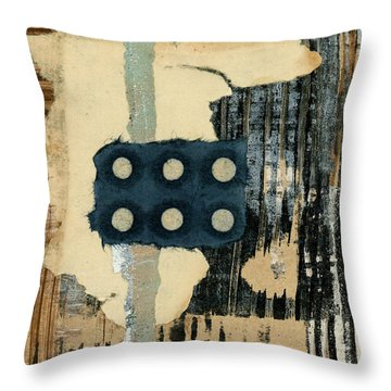 Lines And Dots Collage Throw Pillow