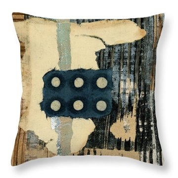 Lines And Dots Collage Square Format Throw Pillow