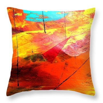 Lines And Landscape Throw Pillow