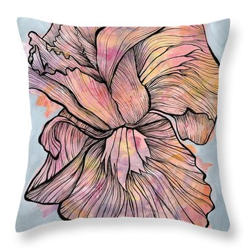 Lines And Layers Throw Pillow
