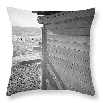 Lines In Ostia Beach Throw Pillow