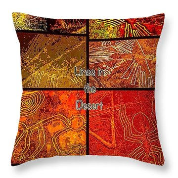 Lines In The Desert Throw Pillow