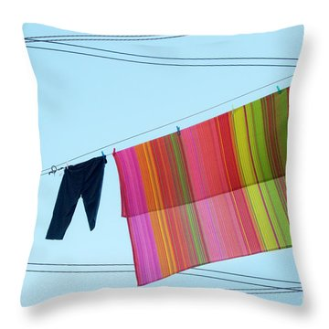 Lines In The Sky Throw Pillow by Ana Mireles
