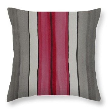 Lines Throw Pillow by Jacqueline Athmann