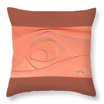 Lines Throw Pillow by Leo Symon