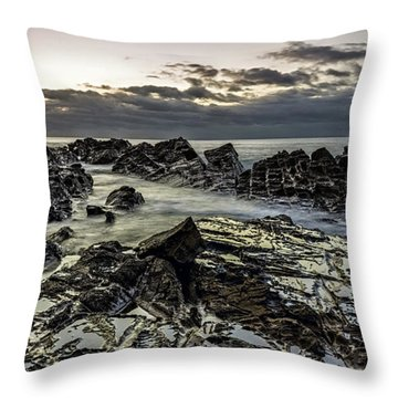 Lines Of Time Throw Pillow by Mark Lucey