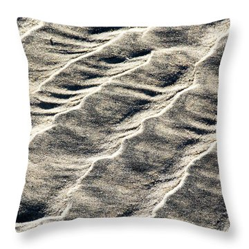 Lines On The Beach Throw Pillow