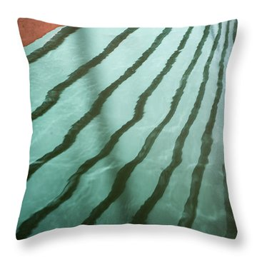 Lines On The Water Throw Pillow